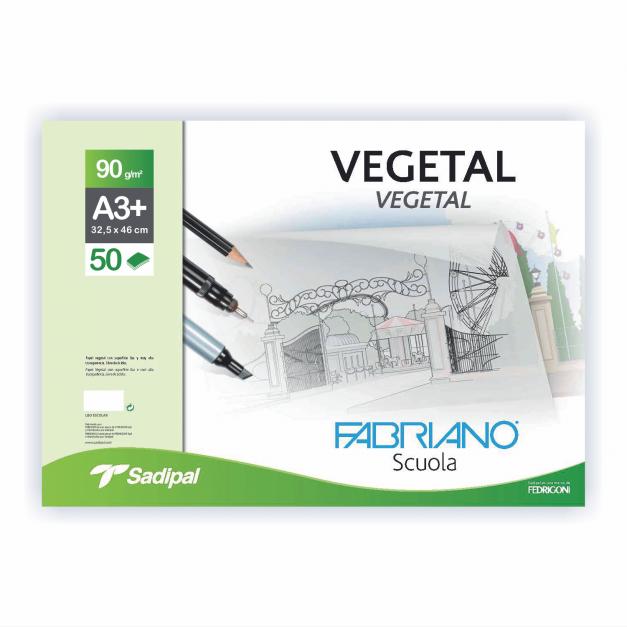 PAPEL VEGETAL BLOC ENCOL. A3+32.5X46CM 50H  90G