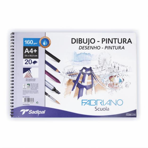 DIBUJO-PINTURA BL.ESPIRA A4+ 23X32.5 20H 160GR
