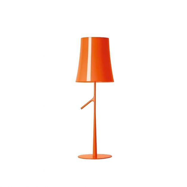 Lámpara Acero Vidrio Naranja