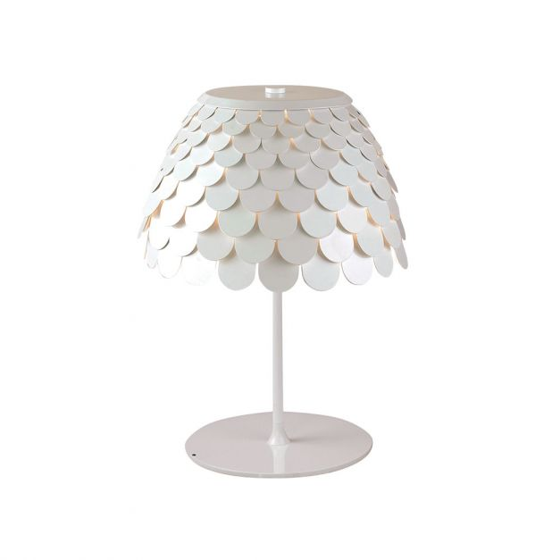 Lámpara Metal Blanco
