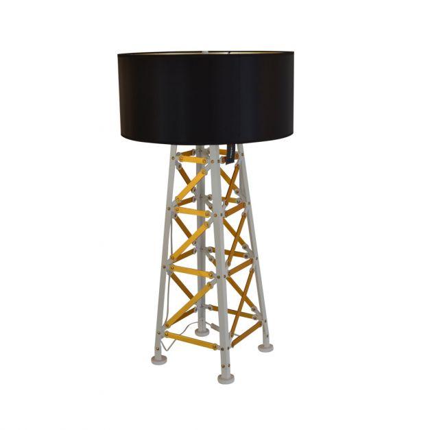 Lámpara Metal Dorado-Negro-Blanco