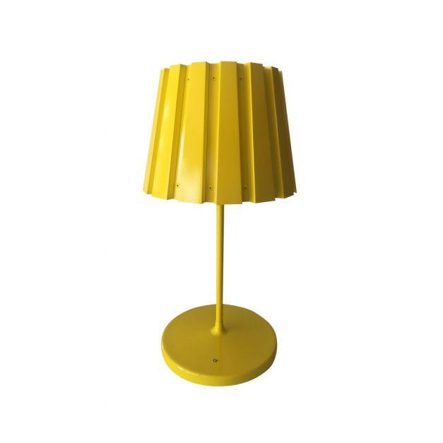Lámpara Aluminio Metal Amarillo