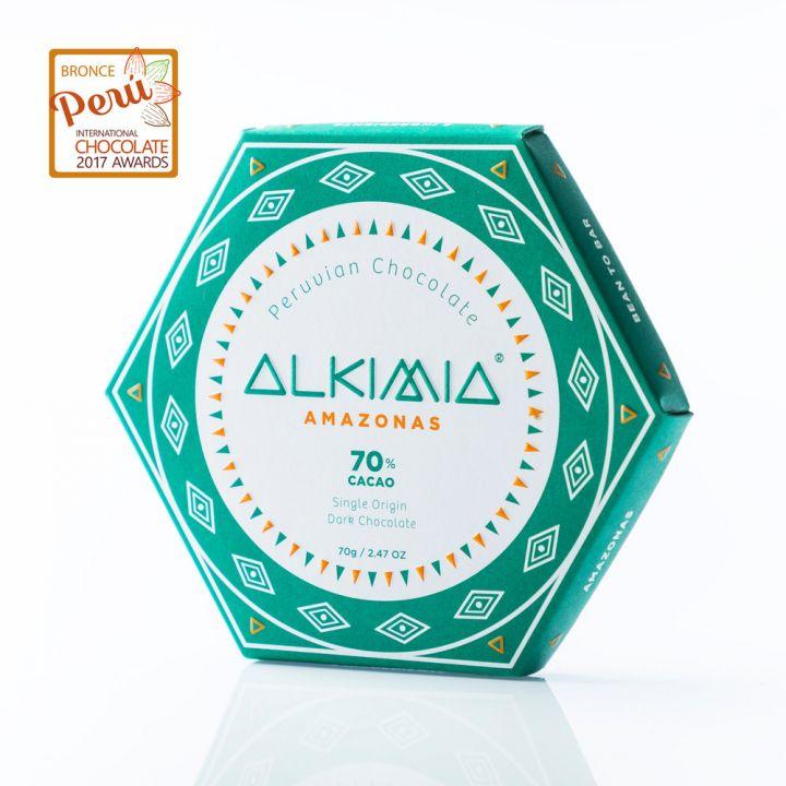 CHOCOLATE ALKIMIA AMAZONAS 70%