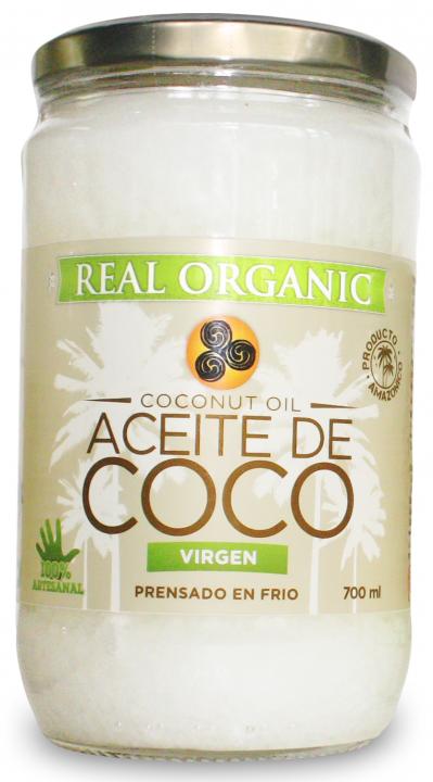 ACEITE DE COCO 700GR REAL ORGANIC