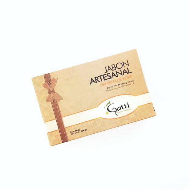 JABÓN ARTESANAL DE COCO Y LINAZA GATTI