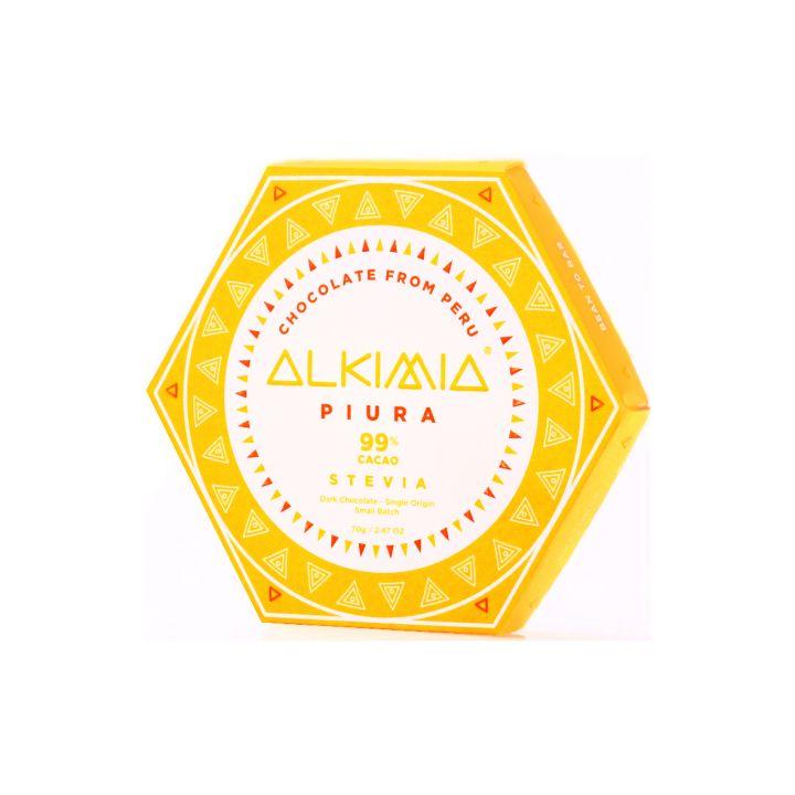 CHOCOLATE ALKIMIA PIURA 99% CON STEVIA