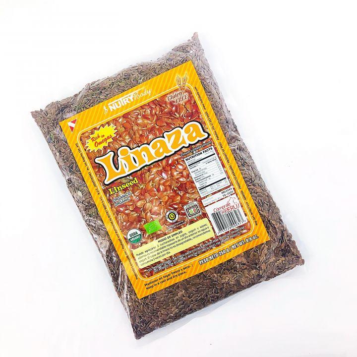 LINAZA ORGÁNICA EN GRANO 250GR NUTRYBODY