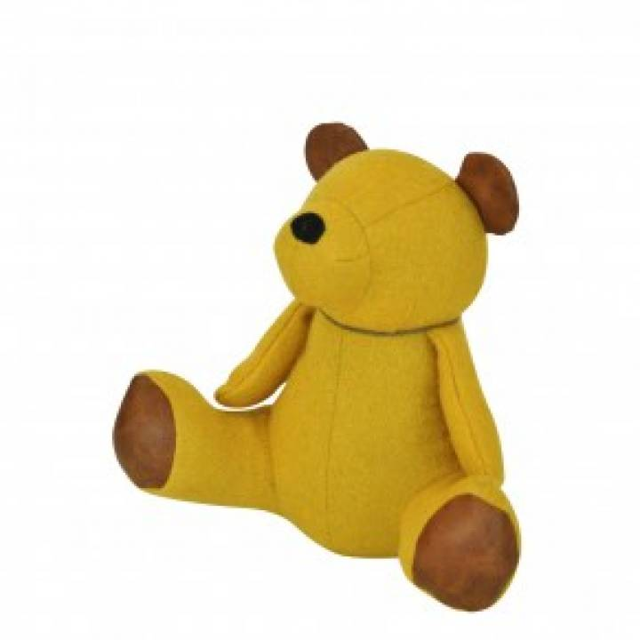 DOORSTOP TEDDY BEAR MUSTARD