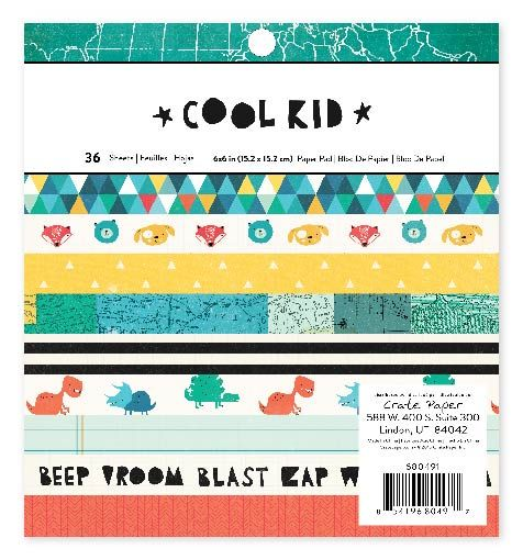 Crate Paper - Colección  cool kid 6x6 x36