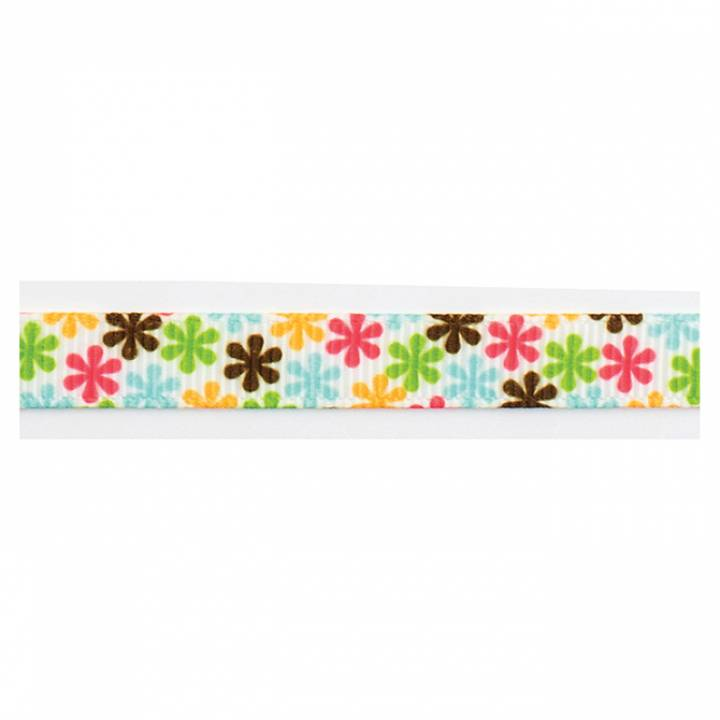 American Crafts - Ribbon multi color flowers