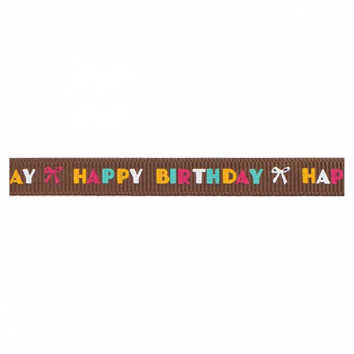 American Crafts - Brown multi happy birthday