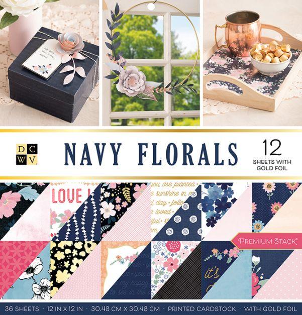 DCWV - Colección  Navy florals x 36
