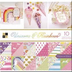 DCWV Colección Unicorns and Rainbows  - Block con foil - 30x30