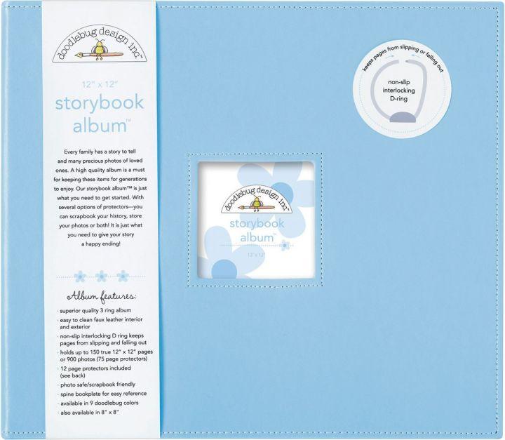 Doodlebug - Album color bubble blue - 30x30