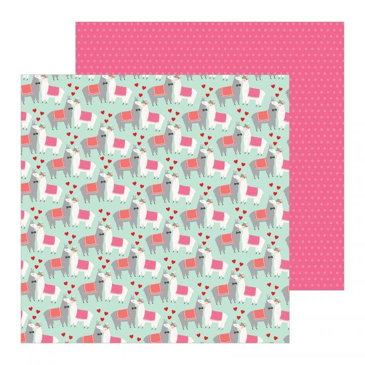 Pebbles -  Colección Loves Me -  Paper Llama Love 12x12