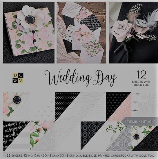 DCWV Colección Wedding - Block con foil - 30x30