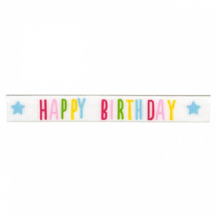 American Crafts - 3/8 ribbon adhsv ribbon happy birthday