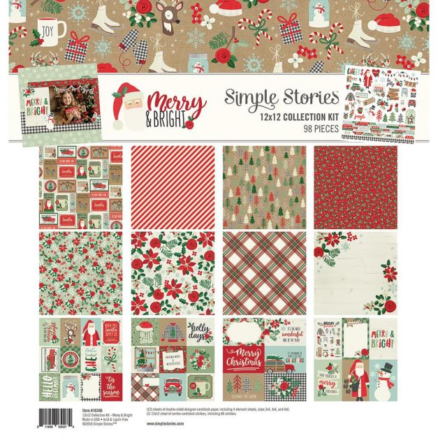 Simple Stories - Colección Merry and bright - Kit 30x30