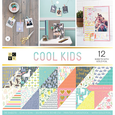 DCWV Colección Cool Kids - Block con foil - 30x30