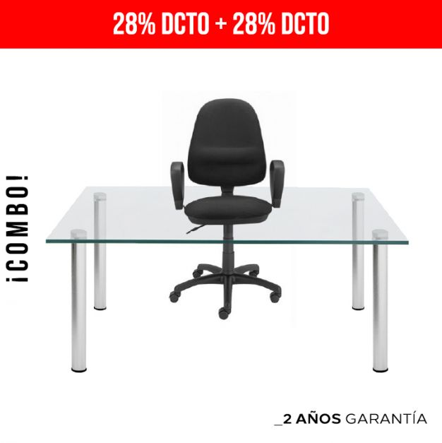 1 Mesa Lissa RB1270 4LY + Silla 1 Webstar Negro