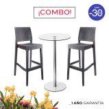 1 Mesa Simplex DA60 1LYO/100 + 2 Bancos Tavarua Café
