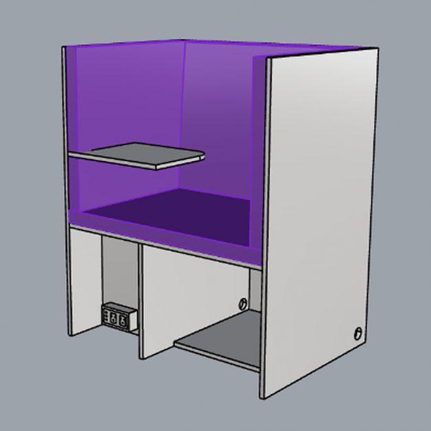 Butaca Cubic Fenólico / Módulo descanso y lectura