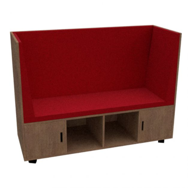 Sofá Hall Cubic Fenólico / Sofá móvil de lectura