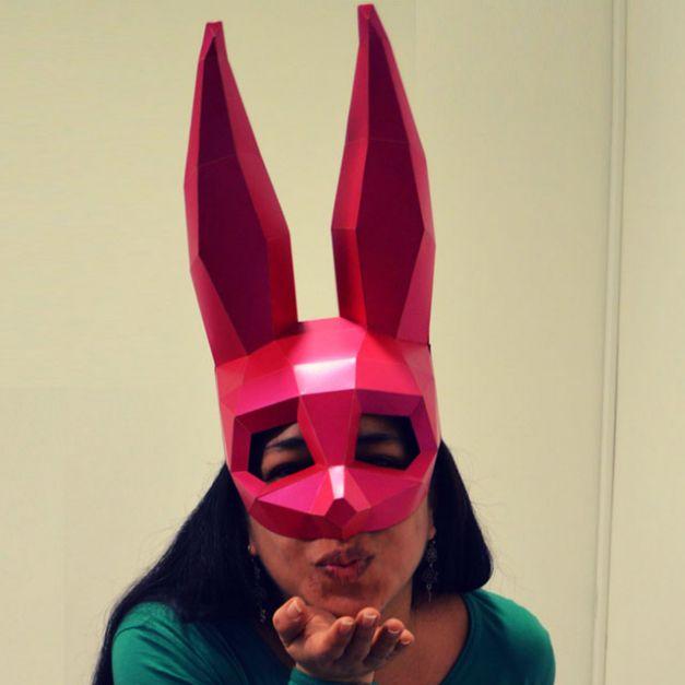 Máscara Coneja Fucsia