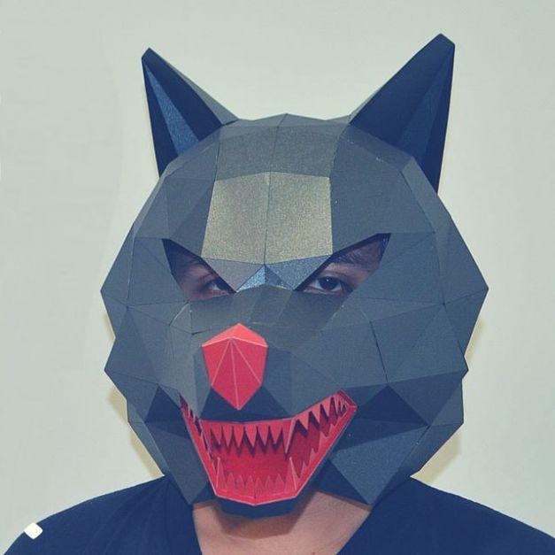 Máscara Lobo Gris