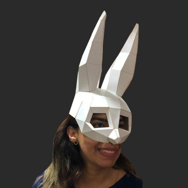 Máscara Coneja Blanca