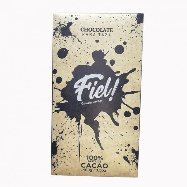 Chocolate para Taza 100% cacao Fiel! 100g