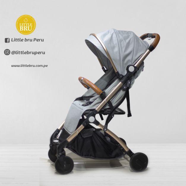 Coche para bebé  Little Bru Modelo AVION Gris Claro