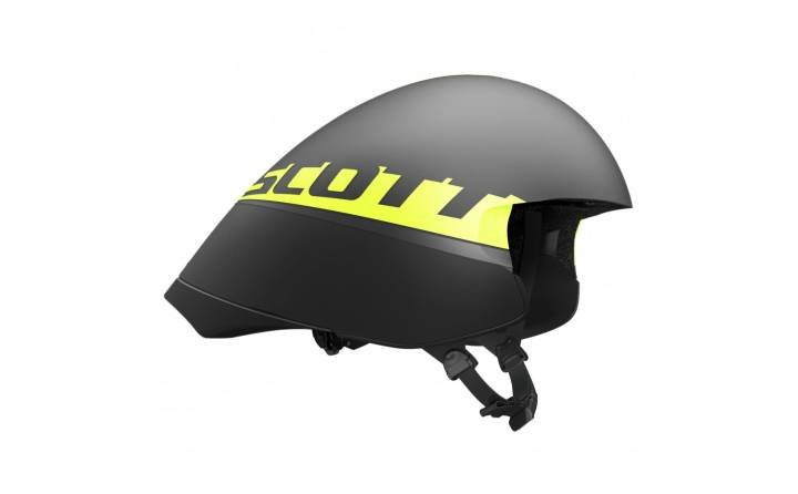 Casco Scott Split (Ce) Negro Amarillo Rc  S