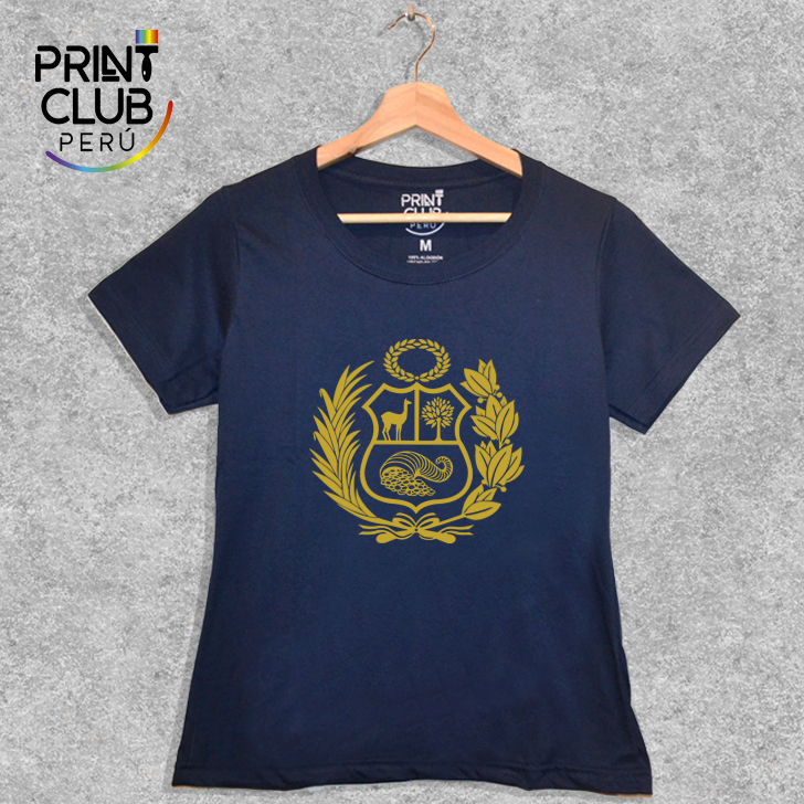 f2875782f4 PRINT CLUB PERU : Polo - Escudo Dorado Perú (Mujer)