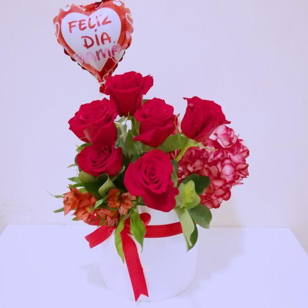 Duo rosas y Hortensia