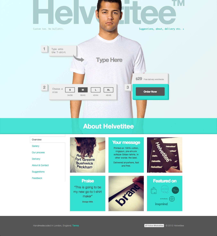 Helvetitee - Homepage