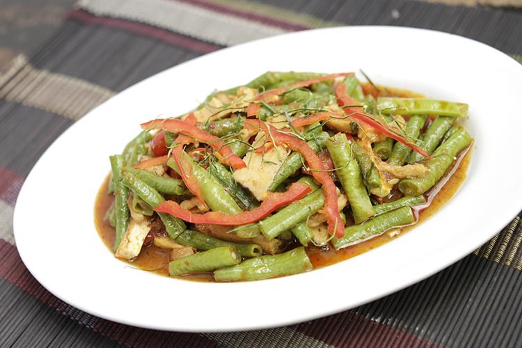 Green bean stir fry.