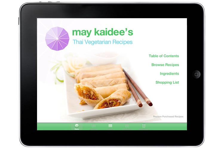 May kaidees cookbook iphone and ipad apps and video tutorials thai vegetarian recipes for ipad free download forumfinder Images