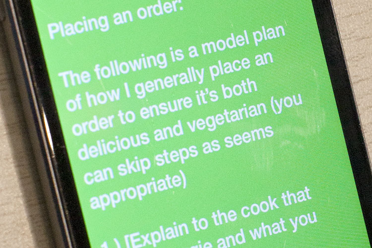 Mobile App - May Kaidee's Guide for Vegetarians and Vegans