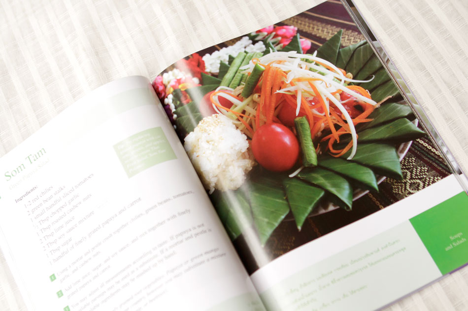 Example cookbook page - Papaya Salad