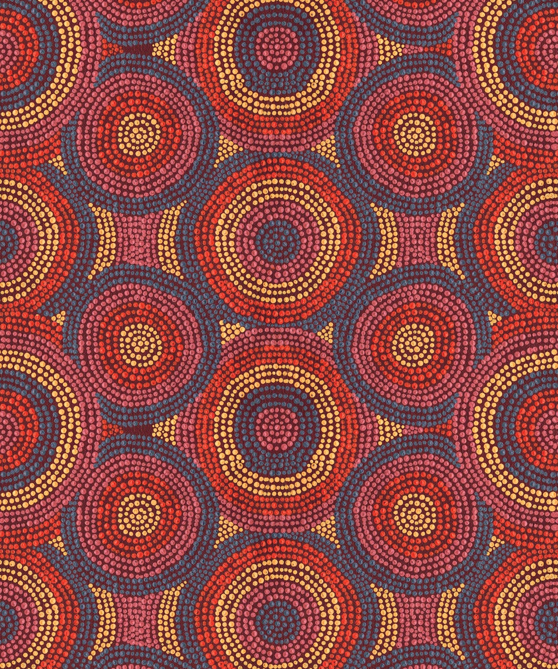 Tjusaula Authentic Indigenous Dot Painting Wallpaper Milton King