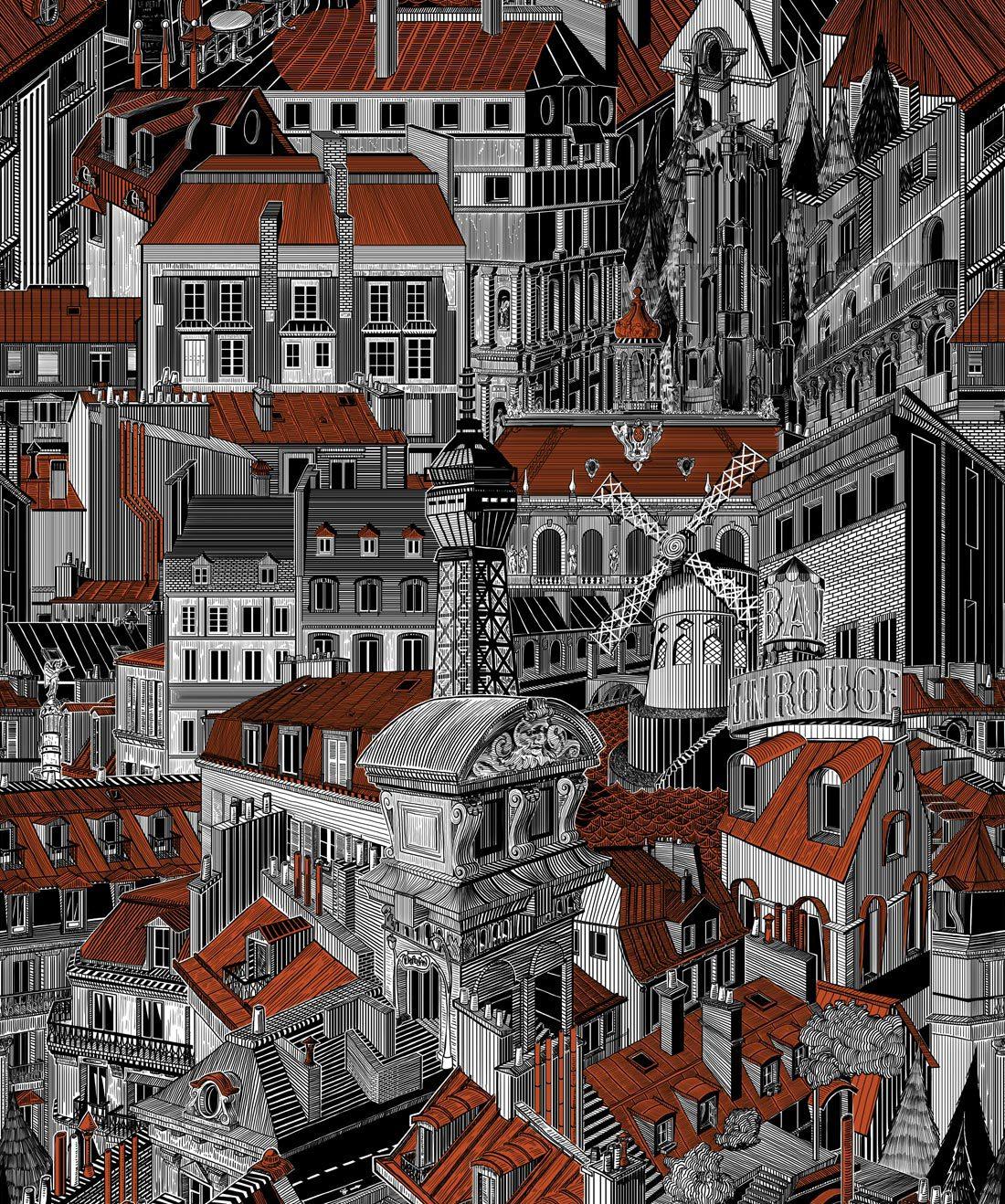 Paris Rooftop Copper