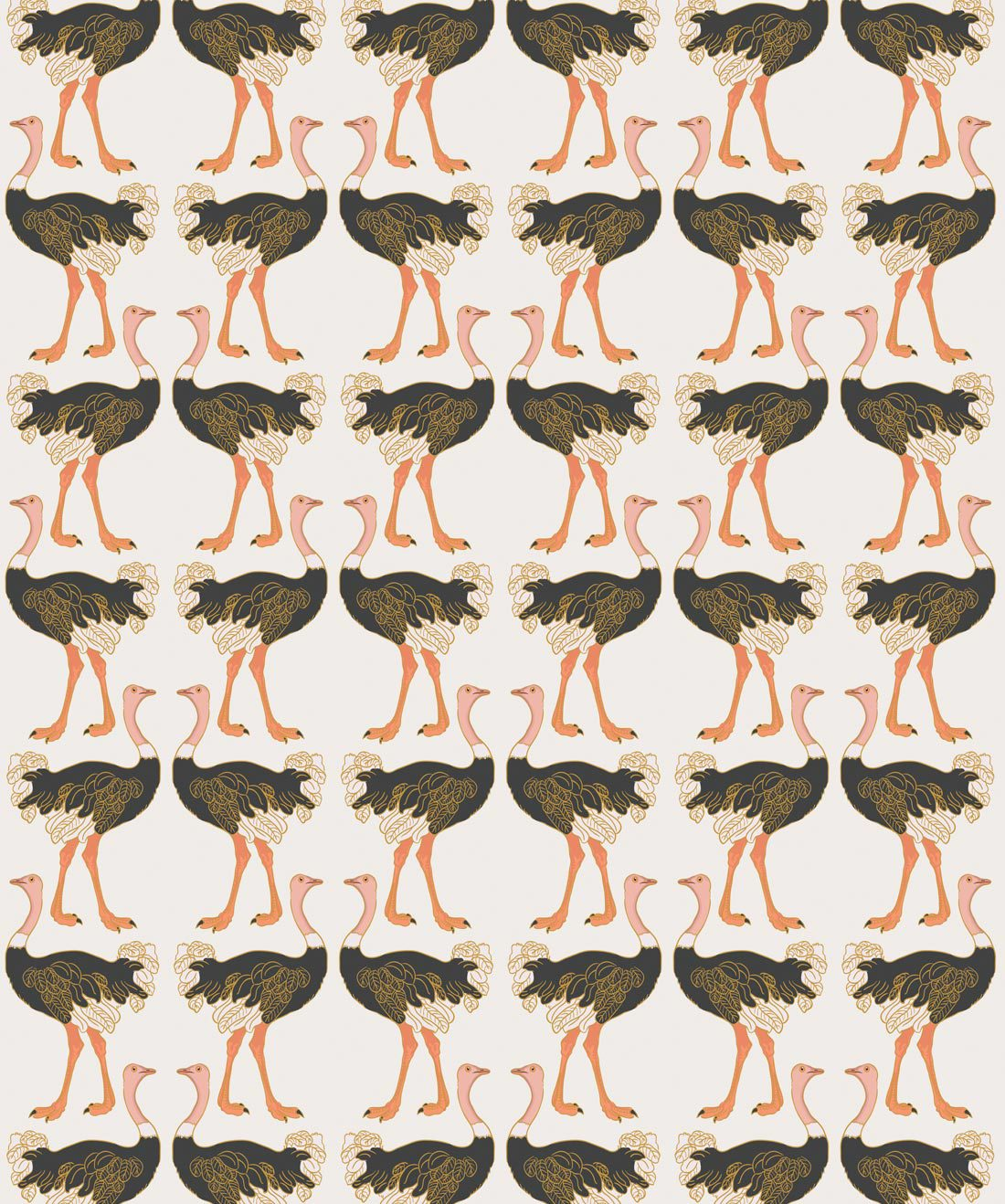 Ostrich Strut Wallpaper • Milton & King