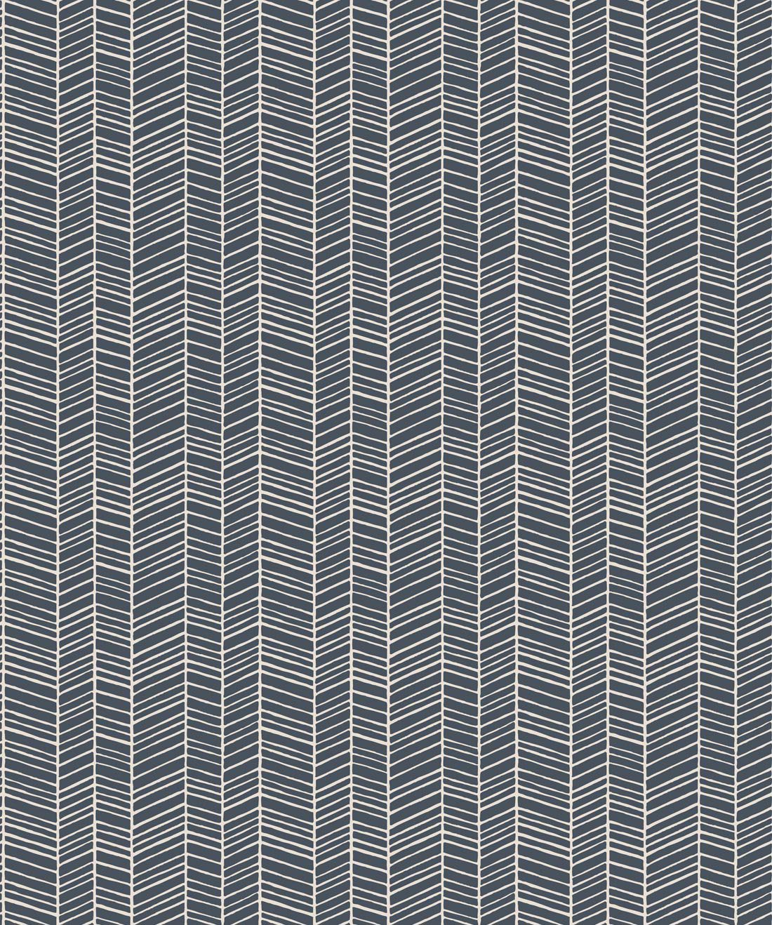 Herringbone Thunderbolt Blue Wallpaper