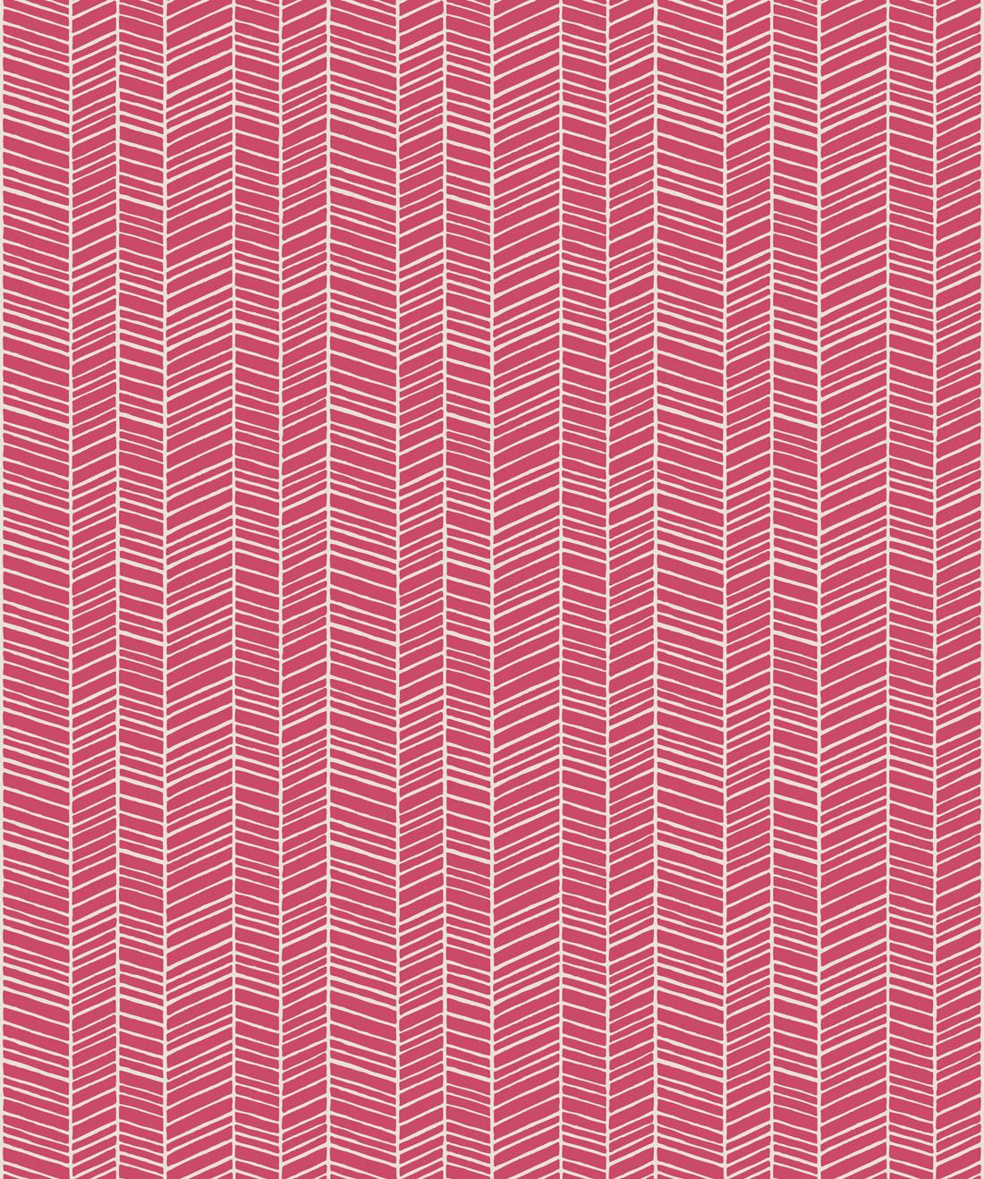 Herringbone Pink Quince Wallpaper