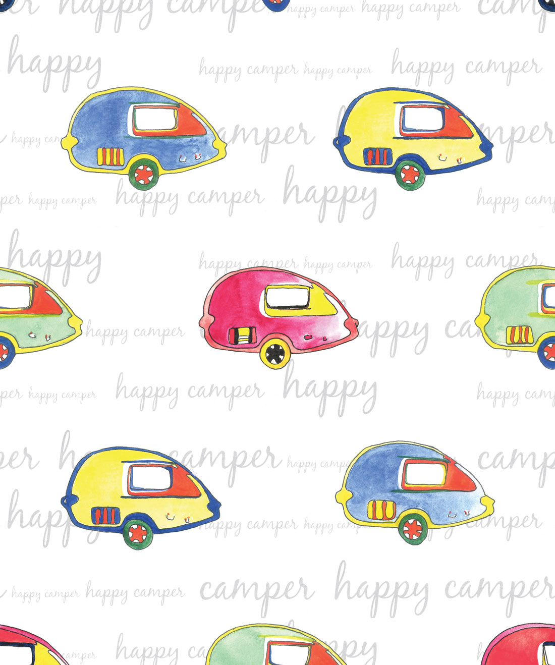 Happy Camper Wallpaper