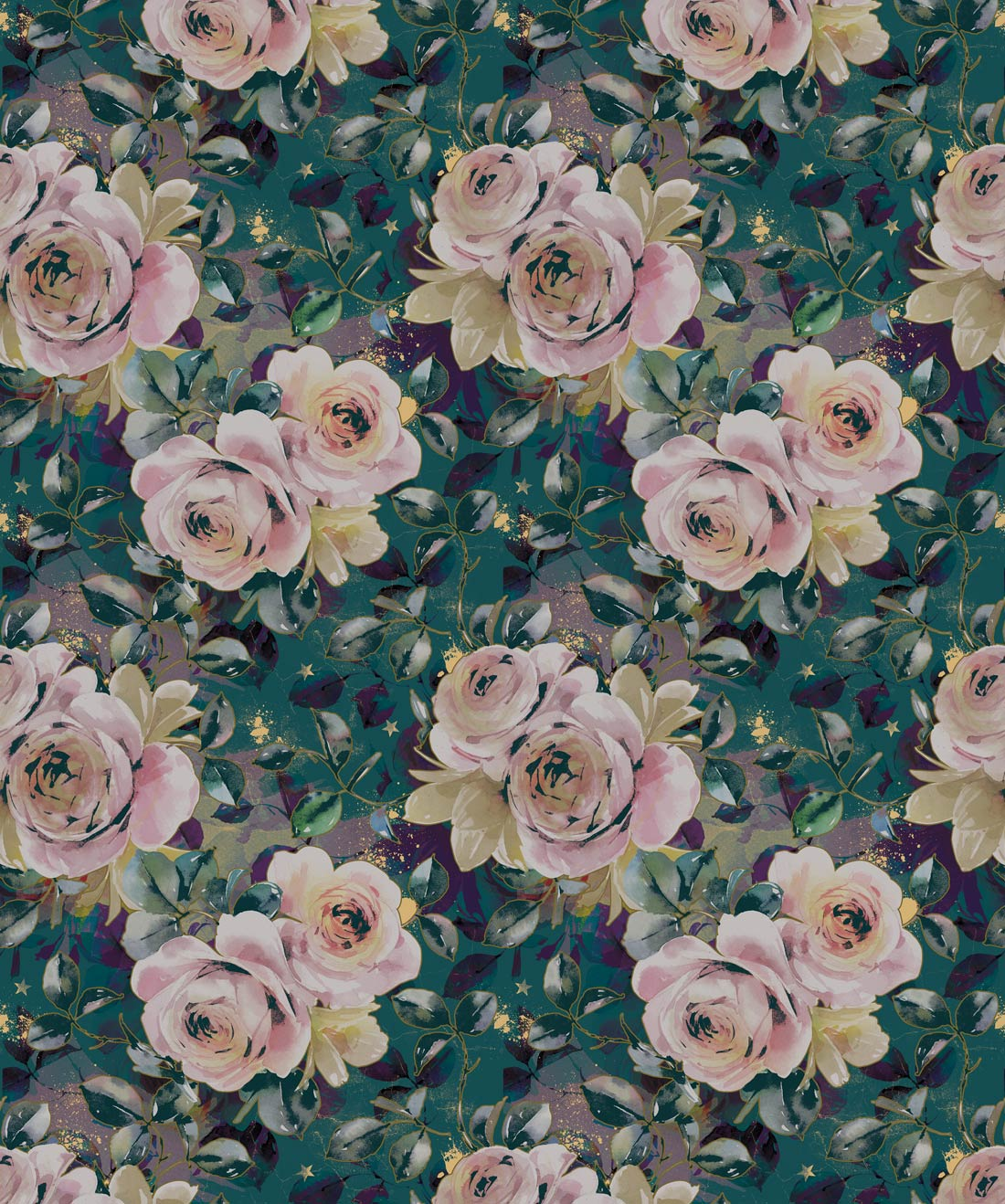 English Roses Elegant Floral Designer Wallpaper Milton King