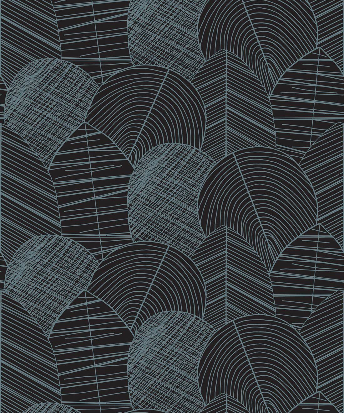 Byronian Hills Slate Blue Wallpaper