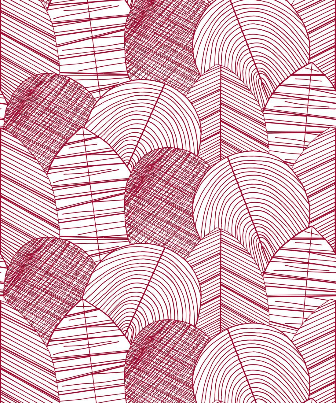 Byronian Hills Cranberry Wallpaper