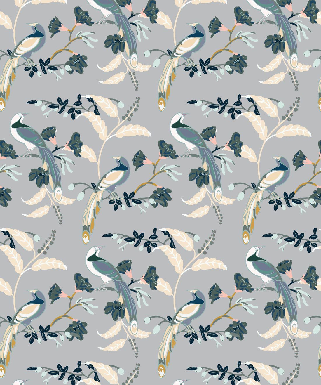 Birds Of Paradise Grey • Milton & King